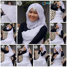 tutorial hijab pesta 2 kerudung nurbaitillah tutorial kerudung hijab segi empat modern anggun untuk
