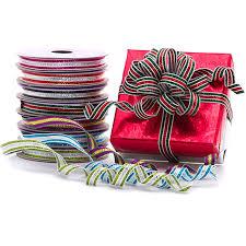 metallic ribbon bright stripe metallic ribbon shop papermart