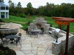 Patio Stone Pictures by Remarkable Landscape Backyard Patio Idea Pale Brown Stone Element