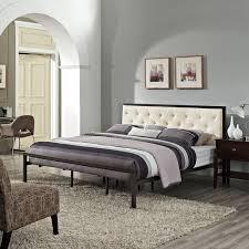 King Platform Bed Mia Fabric King Platform Bed Frame Free Shipping Today