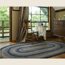 country style braided jute rugs river shale