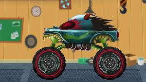 kids monster truck video haunted house monster truck scary car garage haunted house