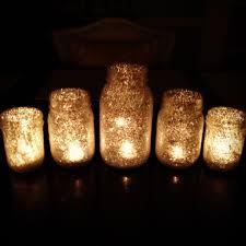 diy glitter starry night candles decoration decor wedding