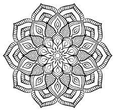 Halloween Mandala Coloring Pages Mandala Big Flower Mandalas Coloring Pages For Adults Justcolor