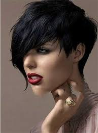 2016 newest black 1b color side bang short curly weman synthetic