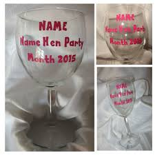 10 15 20 25 personalised wine glass stickers for hen do hen night 10 15 20 x personalised wine glass stickers for a hen do hen