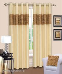 Cream Blackout Curtains Eyelet by 3d Diamante Ringtop Eyelet Lined Curtains Faux Silk Beige Latte