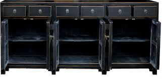 teng lacquered and rattan sideboard