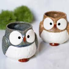 amazon com owl ceramic mug blue coffee cups u0026 mugs