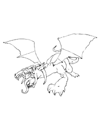 dragon coloring page 2 coloring page