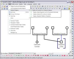 how to create a medical genogram genopro