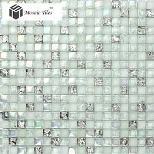 Gold Items Crystal Glass Mosaic Tile Wall Backsplashes by Tst Crystal Glass Mosaic Tile Aqua Iridescent Silver Diamond