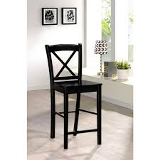 Black Home Decor by Linon Home Decor X Back 30 In Black Bar Stool 01710blk 01 Kd U