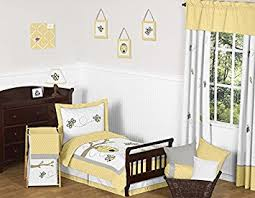 Bumble Bee Crib Bedding Set Yellow Gray And White Honey Bumble Bee Hive 5