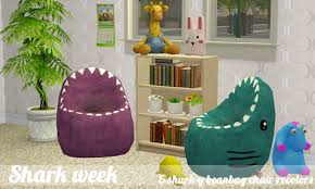 Shark Bean Bag The Sims 3 A Other Shark Bean Bag Chairs By Keoni