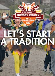 cincinnati hungry turkey half marathon 5k ohio events