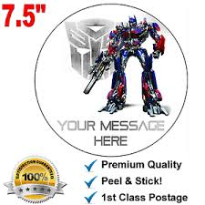 optimus prime cake topper transformers optimus prime personalised edible icing cake topper 7 5
