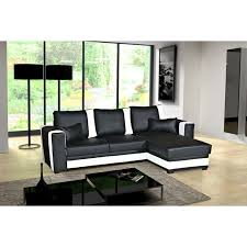 canape d angle noir et blanc canapé d angle convertible pablo noir blanc coffre achat vente