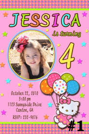 custom birthday invitations hello custom photo birthday party invitation you print
