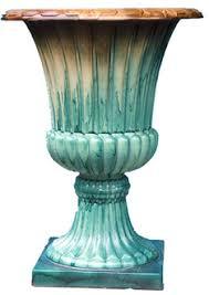 decorative large plastic garden urn tall planters pot wholesale