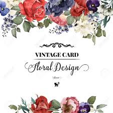 Invitation Card Greeting Card With Roses Watercolor Can Be Used As Invitation