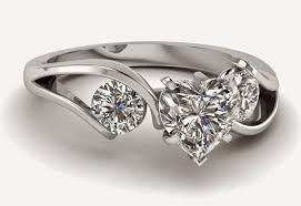 Heart Shaped Wedding Rings by 3 Stone Heart Shaped Diamond Engagement Rings Sets For Women