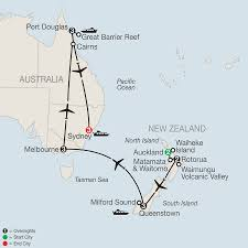 auckland australia map new zealand escorted vacation tour packages globus