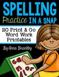 spelling practice in a snap by anna brantley teachers pay teachers