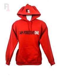 positiveone hoodie is comfortable and stylish wear it and stand out