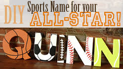 themed letters sports themed name decoration she s crafty
