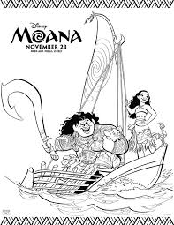 Free Printables Disney Moana Coloring Pages Comic Family