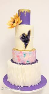Heart Wedding Cake 30 Geode Wedding Cakes Ideas Make You Forget All Other Cakes