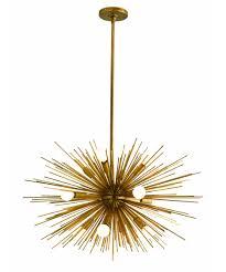 Antique Brass Pendant Light by Arteriors Home 89669 Zanadoo 29 Inch Wide 12 Light Large Pendant