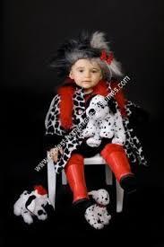 Infant Dalmatian Halloween Costume Coolest Homemade Cruella Deville Child Halloween Costume Idea
