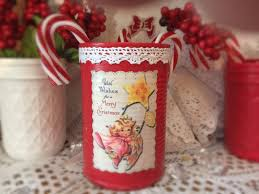 angel shabby chic retro tin can vase christmas decor kitschy
