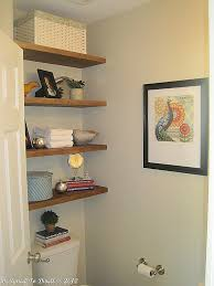 bathroom shelving ideas for small spaces remodelaholic half bath makeover and floating shelf tutorial