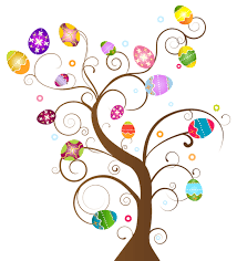 easter egg trees easter feathers clipart clipground
