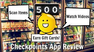 earn gift cards checkpoints app review scan items earn gift cards