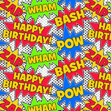 comic wrapping paper birthday comic wrapping paper co uk office
