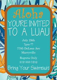 luau tropical and beach party invitations new selections fall 2017