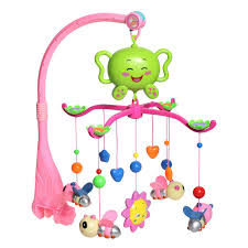 infant mobiles babies bed crib music bell toy lovely 12 melodies