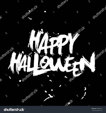 happy halloween white background happy halloween lettering hand writing calligraphy stock vector