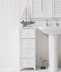 Freestanding Bathroom Storage Units White 4 Drawer Freestanding Bathroom Storage Unit Bath Remodel
