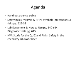 welcome to sch3u intro agenda hand out science policy safety