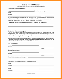 Sample Power Of Attorney Template by 7 Power Of Attorney For Healthcare Form California Scholarship