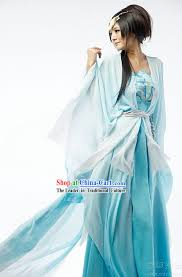 200 ancient chinese blue fairy costume complete set my