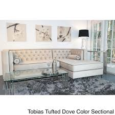 Light Grey Sectional Couch Custom Furniture Tobias Light Dove Grey Tufted Sectional Sofa