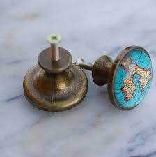 set of two map of britain cupboard knobs by hunter gatherer