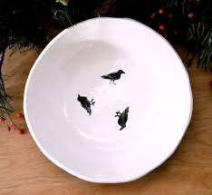hand crafted raven galaxy bowl handmade u0026 painted black crow