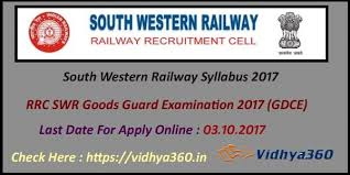 exam pattern of goods guard south western railway syllabus 2017 rrc goods guard exam pattern